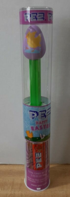 EASTER PEZ ~ New Release 2021~ Purple Egg with Chick in Tube ~ Mint