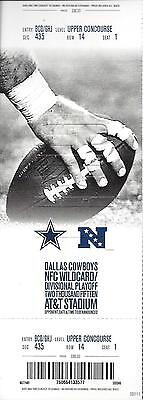 2014-2015 NFL WILD CARD PLAYOFF LIONS @ COWBOYS FULL UNUSED FOOTBALL TICKET