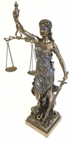 Blind Lady Scales of Justice Lawyer Statue Attorney Judge BAR Graduate Justitia