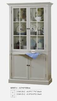 French Provincial Vintage Furniture Glass Cupboard Pearl Whirte Dandenong South Greater Dandenong Preview