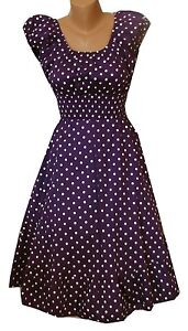 Polka Dot dress Peasant Boho Hippy Gypsy 50's pinup Retro Vintage Style punk
