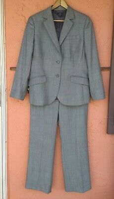 NWOT Brooks Brothers Women's GRAY 100% Wool Pant Suit Jacket sz 14, Pants sz 8