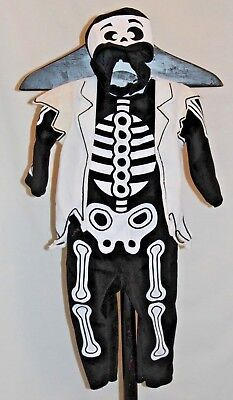 Pirate Skeleton Costume (Black & White Pirate Skeleton Halloween Costume Dress Up Toddler FREE)