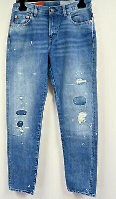 Levi's Vintage Clothing 505-0217 Selvedge Patched Distressed Jeans Size 30x31