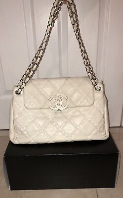 Chanel Sac Rabat Satchel Bag - Ivory, Barely Worn for sale  Cherry Hill