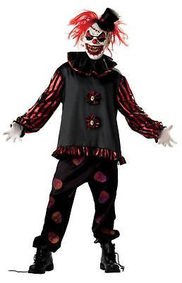BOYS CARVER KILLER EVIL SCARY CLOWN HALLOWEEN COSTUME DRESS M OR L (Mr Evil Kostüm)