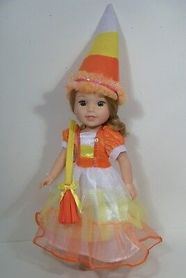 Candy Corn Costumes ( Candy Corn Costume Dress Doll Clothes For 14