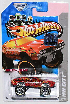 HOT WHEELS 2013 HW CITY OLDS 442 W-30 RED FACTORY SEALED