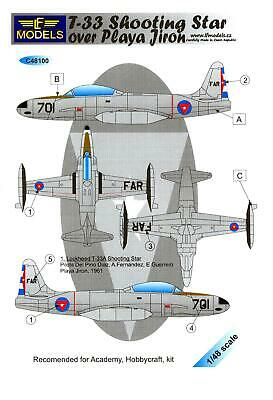 LF Models Decals 1/48 LOCKHEED T-33 SHOOTING STAR OVER PLAYA GIRON Bay of Pigs for sale  USA