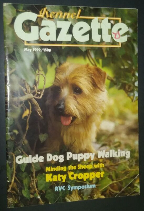 Kennel Gazette Magazine Norfolk Terrier Cover + Articles May 1992 RVC Symposium