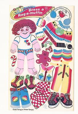 "Vintage 1984 Sandylion Sticker Designs ""Dress A Rag-A-Muffin"" Single Sheet"
