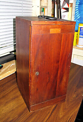 Bausch Lomb Stereo Microscope In Wooden Box Antique