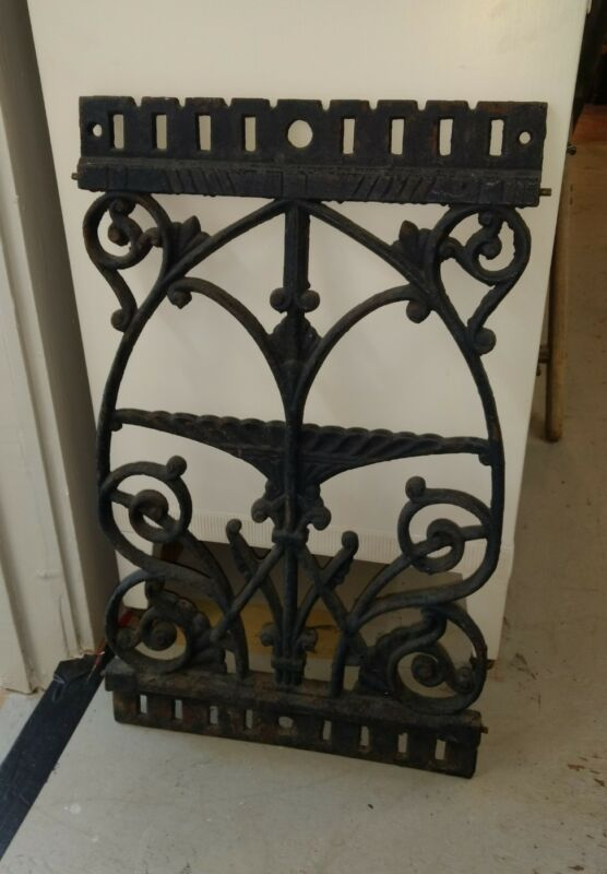 Antique American Cast Iron Architectural or Fence Panel Garden Sculpture