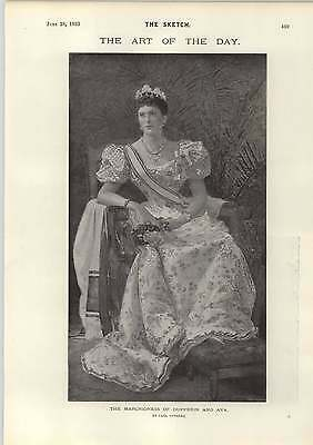 1893 The Marchioness Of Dufferin And Ava Art Notes