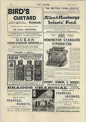 1893 Braggs Charcoal Biscuits Eradicate Worms Pease Mills Darlington
