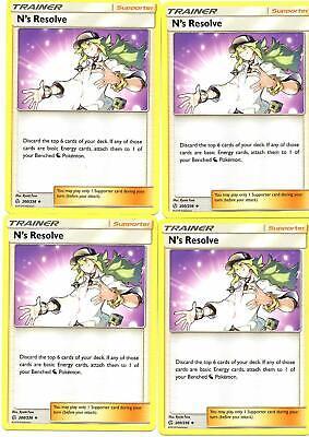Pokemon Trainer Set - N's Resolve 200/236 - Cosmic Eclipse - 4 CARD SET - NM/M