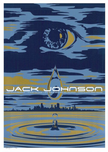 MINT & SIGNED Jack Johnson 2008 Camden Todd Slater Poster 125/200