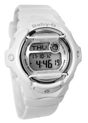 Casio BG169R-7A Baby-G Digital Grey Dial White Resin Band Watch NEW