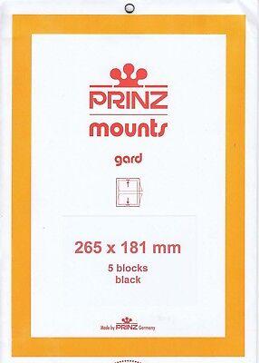 Prinz Stamp Mount Strips 265x181 5 Black For US Sheets Calder & All Aboard Scott