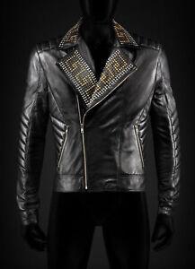 3ee0c5b70 Versace Mens Leather Jacket   eBay