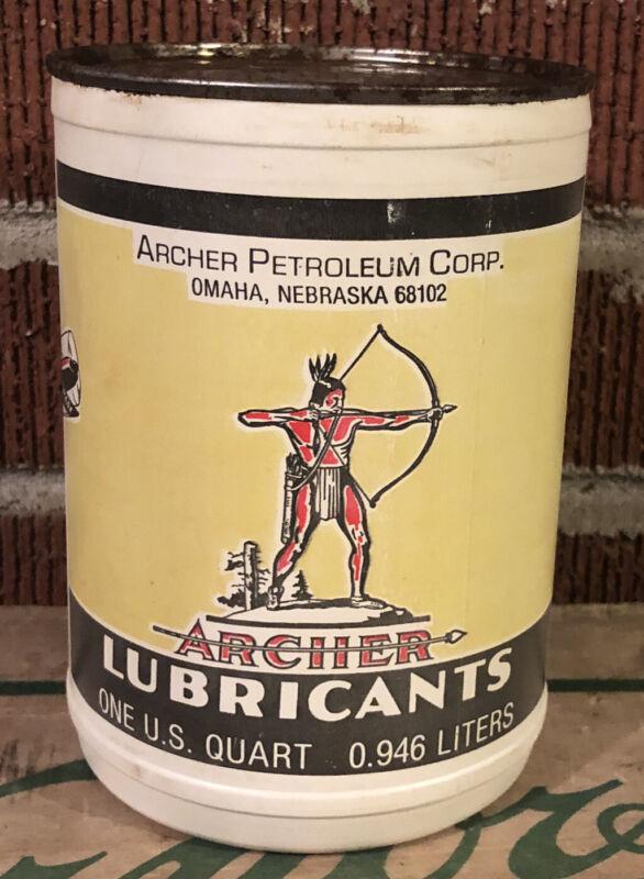 Archer Lubricants Motor Oil 1 Qt. Oil Can Plastic Composite Aircraft Grade Full