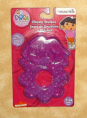 New Dora The Explorer Chewy Purple Teether by Munchkin 6-24