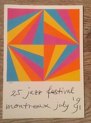 Kunst Bill (Jazz Festival '91, Montreux, Max Bill, 1 Kunstkarte, Neu)