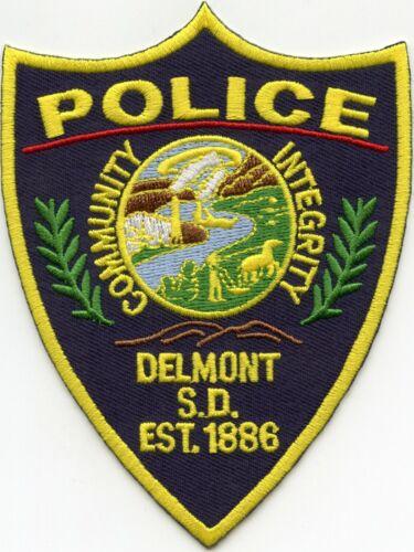 DELMONT SOUTH DAKOTA SD POLICE PATCH