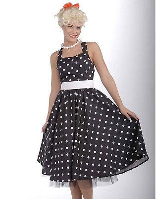 50'S Cutie Polka Dot Dress Rockabilly Pin-Up Women Fancy Halloween Costume