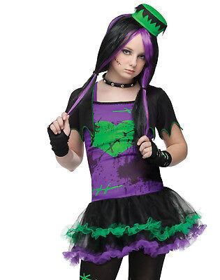Witzig Frankie Gothik Punky Teenager Mädchen Halloween Kostüm Junior 0-9