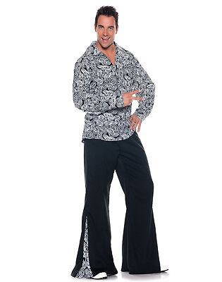 Funky Disco Fever 1970'S Hippie Mens Fancy Dress Halloween Party Costume - Male Hippie Clothes