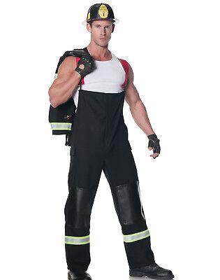 Rescuer Fire Fighter Sexy Hot Shot Fireman Mens Halloween Party Costume - Hot Firefighter Halloween Costume