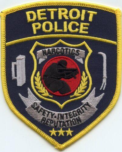DETROIT MICHIGAN MI Safety Integrity Reputation NARCOTICS POLICE PATCH