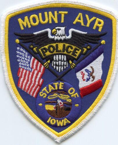 MOUNT AYR IOWA IA state flag POLICE PATCH
