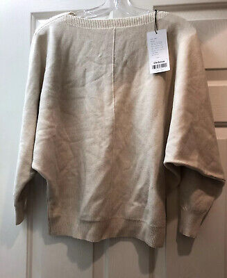 Ckikiou Women's Sweater Batwing Sleeve Casual Cashmere One Size Beige