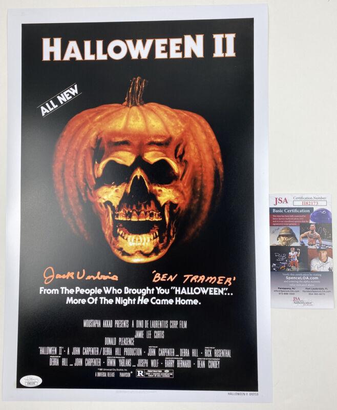 JACK VERBOIS signed 12x18 Poster HALLOWEEN 2 II BEN TRAMER JSA Authentication