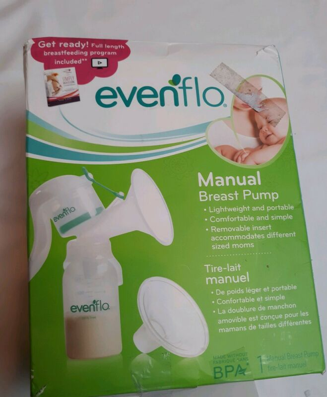 Evenflo Manual Breast Pump Damage box. New