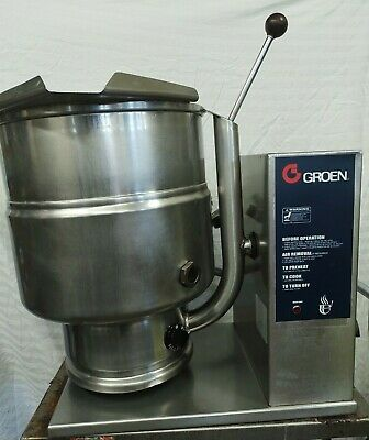 2001 Groen Electric 10 Gal 40 Qt Steam Jacketed Tilt Kettle Tdb-40 3 Or 1 Phase