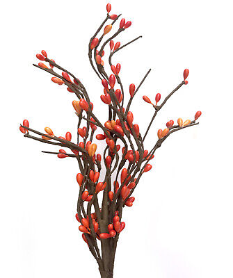 Autumn Berries Red Orange Seed Fall Pick Tree Wreath Table Floral Decor R