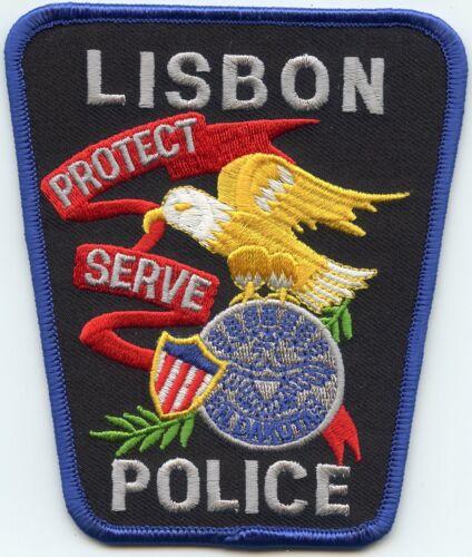 LISBON NORTH DAKOTA ND POLICE PATCH