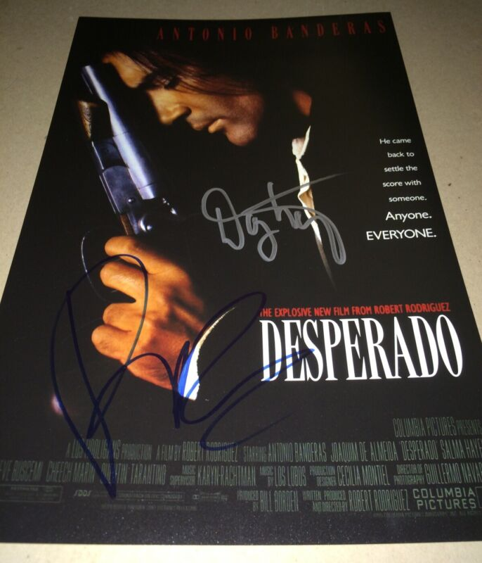 Robert Rodriguez And Danny Trejo Hand Signed DESPERADO 11 X 17 Photo IN PERSON