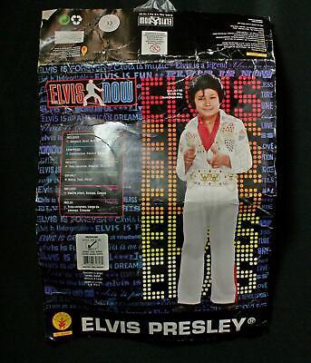 Elvis Costume Boys (Boys Rubies Elvis Presley Eagle Jumpsuit Halloween Costume Sz M)