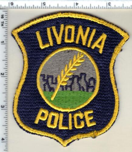 Livonia Police (Michigan) Uniform Take-Off Shoulder Patch from the 1980