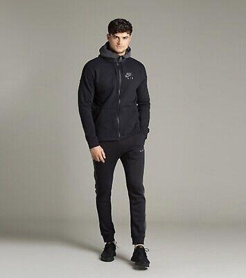 Nike Air Zip Hoodie Black Jumper Jacket Cardigan Pullover Gym