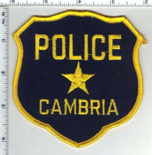 Cambria Police (Wisconsin) 1st Issue Shoulder Patch