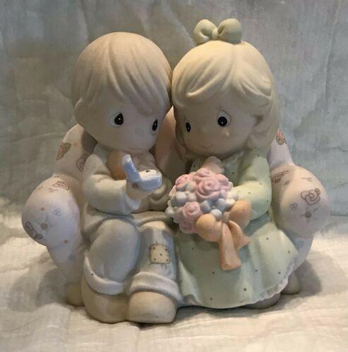 """Enesco Precious Moments """"Say I Do"""" 1996 #261149 Porcelain Figurine. Retired."""