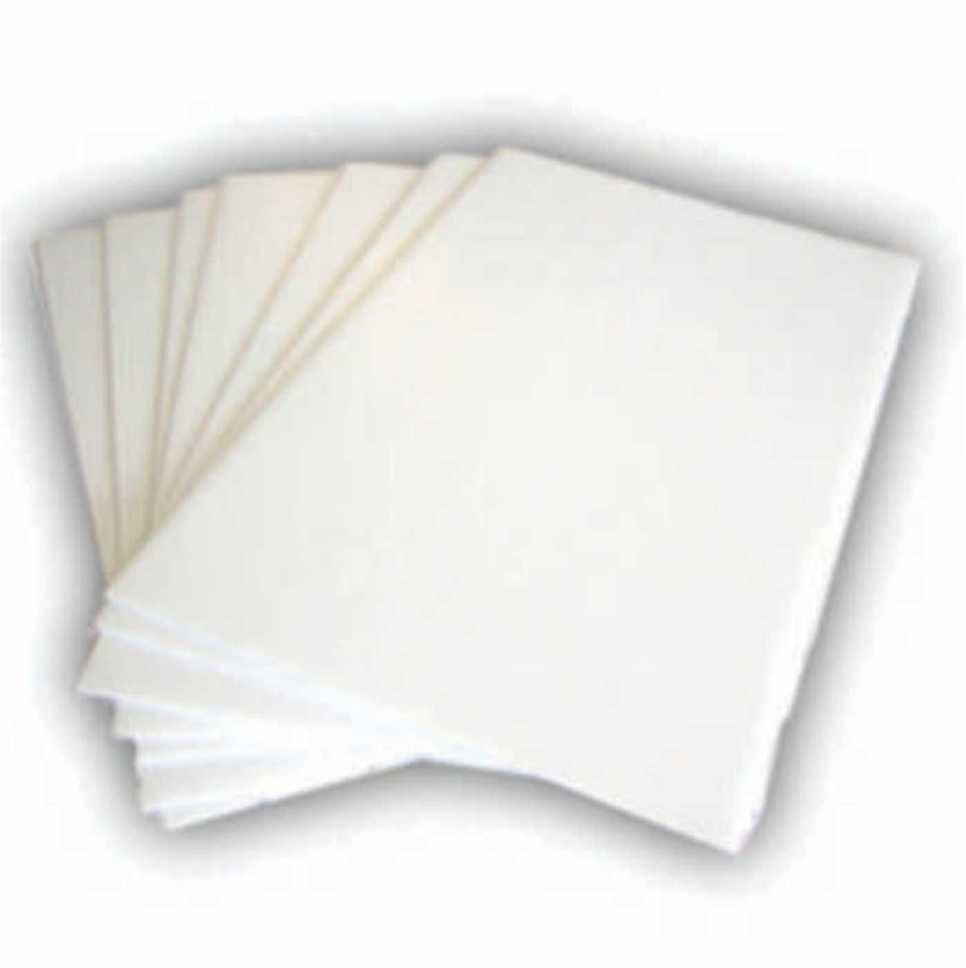 "Pack 100 18x24"" Plastic Corrugated 4mm WHITE Yard Bandit Sig"