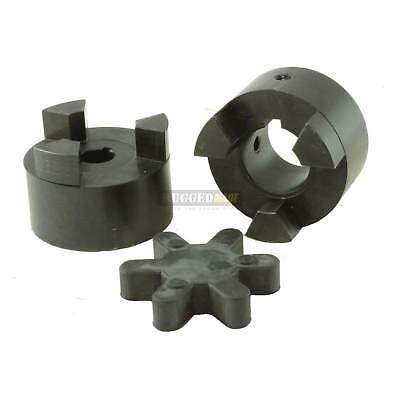 1-14 X 1 Shaft Flexible Jaw Coupler Rubber Spider L100 Lovejoy Coupling Set