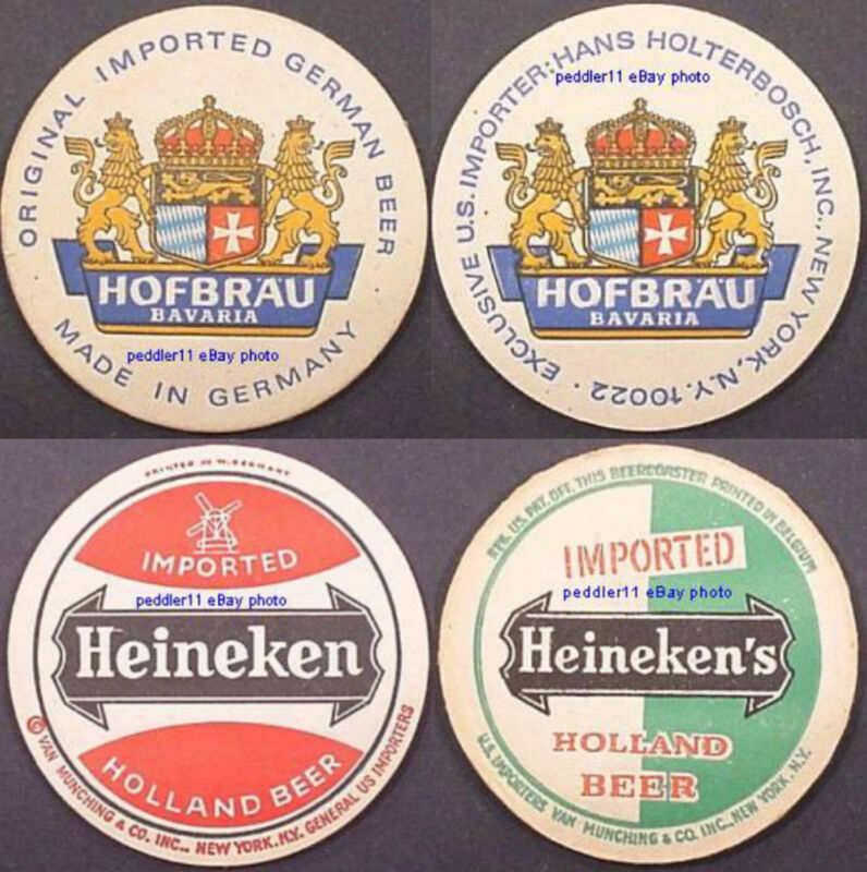 lot of 13 large international Beer Coasters Germany, Holland, UK, Czechoslovakia