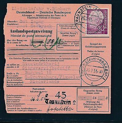 88804) Auslands - Postanweisung Heuss EF 40PF Traunstein - Niederlande